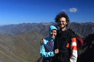 This is Frank and I summiting Dalton Mountain in the Brooks Range of Alaska.