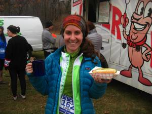 Post race vegan hotdog!