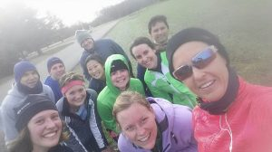The trail running group from this morning. We all had an awesome time!