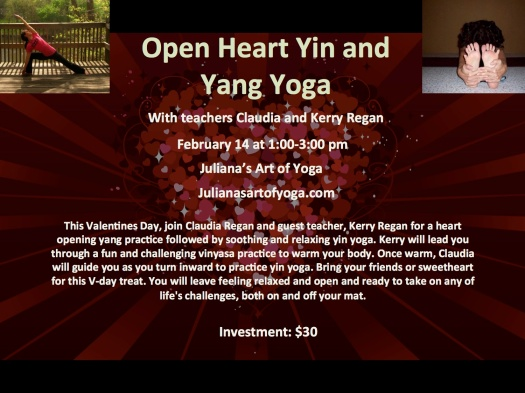 This is a workshop I will be teaching in South Florida at Juliana's Art of Yoga. If you are in town, you should check it out!