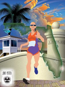 Apparently the A1A Marathon and Half Marathon has a race poster.