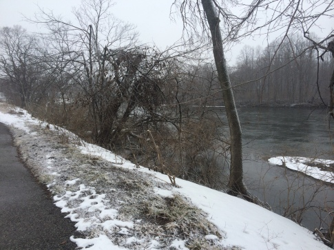 My one picture on my long run before my phone died. It was snowing the whole time and my face felt like it was being pelted by tiny razor blades, but besides that, it went great!