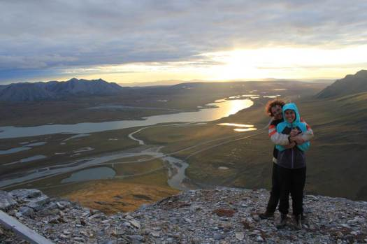 This is my husband and I on top of a mountain in Alaska. Toolik Biological Field Station is a few miles behind us.