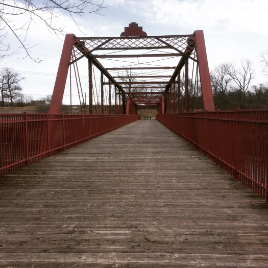 A pretty bridge on the River  Trail.