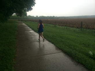 Running during a thunderstorm!