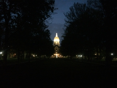 The golden dome is always kept well lit.