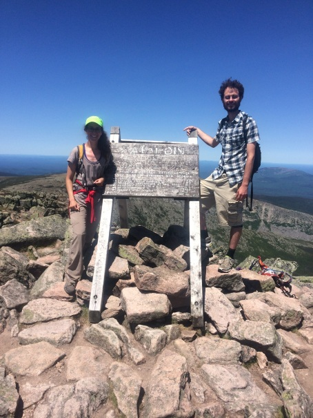 Summit shot from the top of Katahdin.