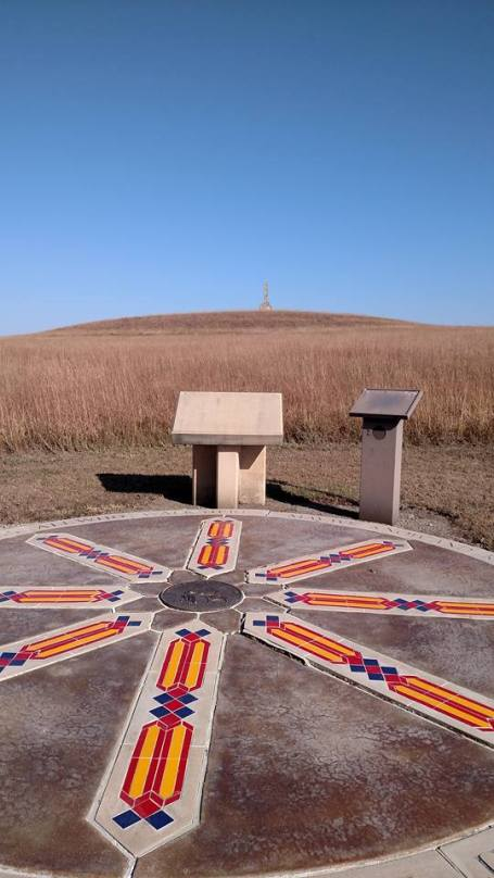 We found an interesting structure on an Indian Reservation along the trail.