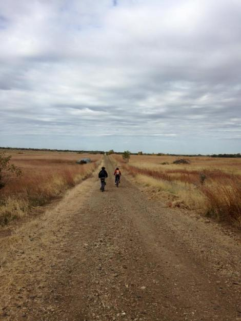 The trail was mostly along prairie, with big wide views of Kansas.